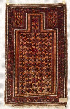 Belutsch, um 1890, Wolle mit Seide, 134 x 85cm, Zustand B