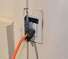 Install a New Outdoor Outlet Cover for Electrical Safety - If you're like us, the electrical receptacle on the front of our house gets serious use around the ho… Outdoor Outlet, Electrical Safety, Celebrity Travel, Contemporary Wall Art, Outlet Covers, Light Project, Grey Bathrooms, Diy Canvas Art, Still Life Photography