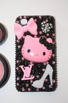 Swarovski LV Hello Kitty Addict Iphone 4/4s case by slave2beauty, $75.00