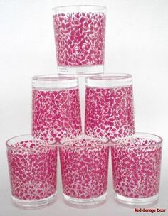 Liberty of London for Target Tumbler Lot of 6 Jeffs Leaf Pink Small Cup New