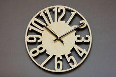 Reloj de pared única / reloj del corte del Laser / decorativo