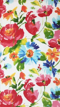 #fabric #bytheyard #homedecor BELLE FLORAL GARDEN Solarium Outdoor Fabric Large by MombieDesigns PINTEN for 10% off