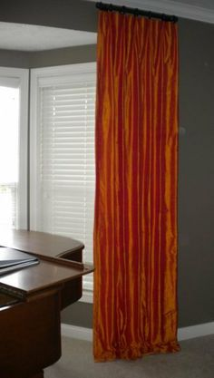 Thanks for checking out our drapery photos. Silk Drapes, Drapery, Curtains, Taupe Paint, Worthing, Great Rooms, Home Goods, Master Bedroom, Home Improvement