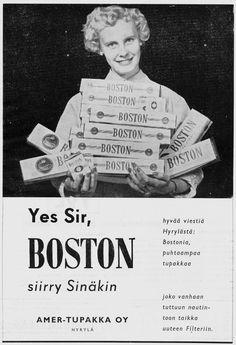 Vanhat mainokset 1950 -