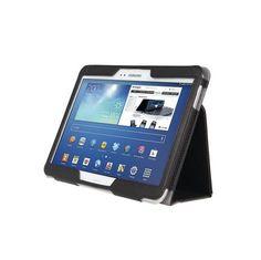 """Kensington K97115WW Comercio 10.1"""" Soft Folio Case & Stand for Galaxy Tab 3 (Dermal Black)"""