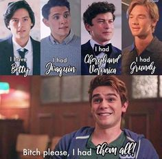 Reasons i didnt ike archie hes a player 😐😐😐😐 The post Reasons i didnt ike archie hes a player … appeared first on Riverdale Memes. Riverdale Merch, Riverdale Quotes, Riverdale Funny, Bughead Riverdale, Riverdale Archie, Memes Humor, Funny Memes, Hilarious, Riverdale Wallpaper Iphone