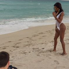"""#shooting on #southbeach #modeling #staygrinding #swimwear Do you like?!? #natassiadreams #thebody #culo #waistline #legsfordays """