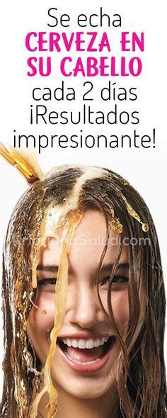Mira por que se echa cerveza en su cabello cada 2 dias Natural Hair Care Tips, Natural Hair Styles, Beauty Secrets, Beauty Hacks, Beer For Hair, Beauty Care, Hair Beauty, Bella Beauty, Cabello Hair