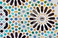 Mozaïek in Alhambra, Granada