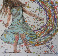 Spinning, drip art, mch artwork Drip Art, Messy Art, Spinning, Artwork, Baby, Inspiration, Color, Hand Spinning, Biblical Inspiration