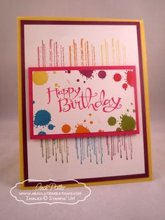 Grunge artist birthday card