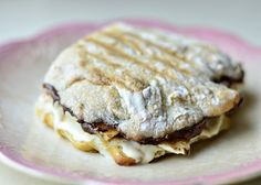 Mascarpone, Nutella and Banana on Grilled Ciabatta Bread | 31 Grilled Cheeses That Are Better Than A Boyfriend