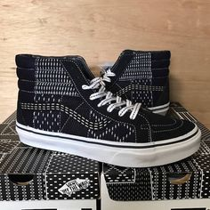 Browse the most sought after Vans clothing including Low-Top Sneakers, Hi-Top Sneakers, Short Sleeve T-Shirts, & more. Japanese Patchwork, Denim Patchwork, Japanese Textiles, Best Sneakers, Custom Sneakers, High Top Sneakers, Vans Sk8 Hi Black, Buy Vans, Hand Crafts