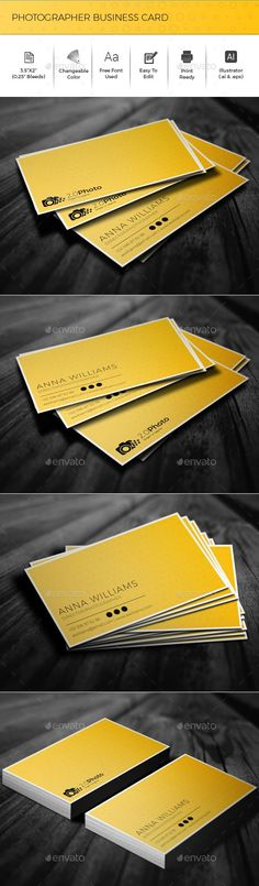 Photographer Business Card - Creative Business Cards Download here : https://graphicriver.net/item/photographer-business-card/19114482?s_rank=176&ref=Al-fatih