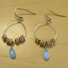 Gold & Blue Earrings $$MOVING SALE$$ 1.5 inches long   MOVING SALE!!!!!! CLOSET CLEAR OUT! Taking all offers as long as they are made using the button! (Note I do not accept offers $5 or less) I also bundle for a bargain, just ask! I do NOT trade. bp Jewelry Earrings