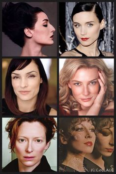 Kibbe•Dramatic• Faces• Erin O'Connor, Rooney Mara, Famke Janssen, Cate Blanchett, Tilda Swanton, Anjelica Houston
