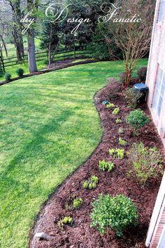 diy Design Fanatic: Making Yard Work Easier - All For Garden Garden Edging, Garden Borders, Lawn And Garden, House Landscape, Landscape Design, Simple Pool, Exterior, Front Yard Landscaping, Landscaping Ideas