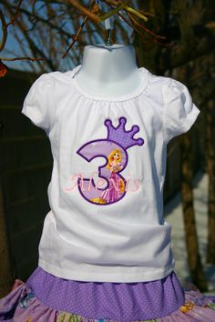 Ari's Angels Girls Tangeled Rapunzel Birthday Outfit by ArisAngels, $70.00