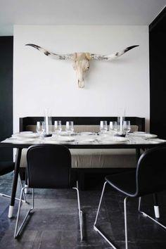 Bull skull.... need I say more? Hotel Habita MTY - Minimalissimo