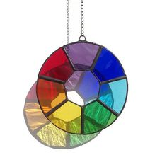 Chakra Suncatcher Stained Glass Chakra by RavensStainedGlass