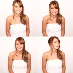 Jennifer Lawrence in the photo booth at the Oscar luncheon