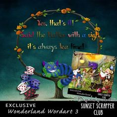 Wonderland Wordart 3 - Digital Scrapbooking Kits for the Perfect Digital Scrapbook