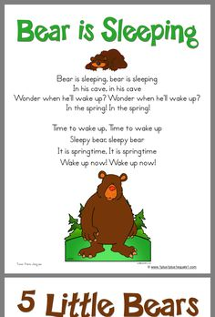 A fun winter song for preschool circle time. Bears Preschool, Preschool Music, Preschool Activities, Winter Songs For Preschool, Winter Activities, Therapy Activities, Preschool Camping Theme, Preschool Circle Time Songs, November Preschool Themes