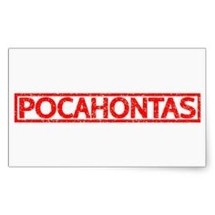 Pocahontas Stamp Rectangular Sticker