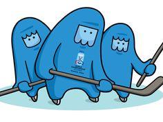 World championship hockey mascot  by Ivana Paleckova