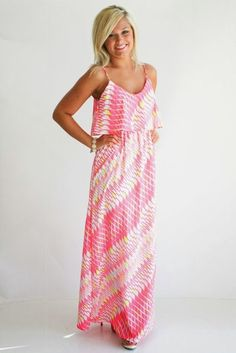 Geo maxi pinkish ladies long dress | Fashion and styles