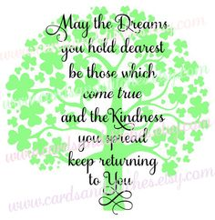 Irish Tree Svg - Dream Tree Svg - St Patrick's Svg - Digital Cutting File - Graphic Design - Instant Download - Svg, Dxf, Jpg, Eps, Png by cardsandstitches on Etsy