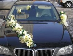 wedding car decoration #9 Wedding Car Decorations, Flower Decorations, Wedding Stage, Dream Wedding, Car Wedding, Bridal Car, Wedding Transportation, Sister Wedding, Wedding Planner