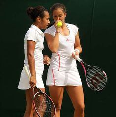 Heather Watson, left, and Laura Robson secured a straight-sets doubles win for GB Wta Tennis, Tennis Racket, Heather Watson, Fed Cup, Tennis Players, Wimbledon, Great Britain, Victorious, Israel