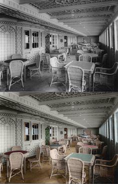 Titanic in color sitting area