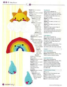 Happy Baby Mobile Crochet Pattern free crochet More Patterns Like This! Easter Crochet, Crochet For Kids, Crochet Crafts, Crochet Toys, Crochet Projects, Crochet Baby Mobiles, Crochet Mobile, Crochet Rabbit, Rainbow Crochet