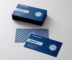 컬러 용지 명함 - 딥 블루 | 비즈하우스