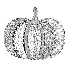 Zentangle Stylized Pumpkin Saved for the pattern on the far right Pumpkin Drawing, Pumpkin Art, Pumpkin Zentangle, Hand Embroidery Design Patterns, Pumpkin Coloring Pages, Tinta China, Hippie Art, Zentangle Patterns, Zentangles