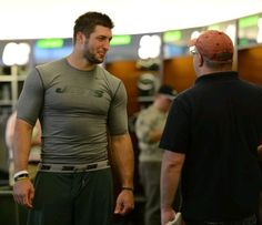 Tim Tebow and Brian Costello (June 2012)