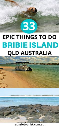 33 Awesome Things to do in Bribie Island Queensland including Woorim Beach, Bulcock Beach, Red Beach, Bongaree Jetty, Bluey Piva Park and more! Queensland Australia, Australia Travel, Brisbane Queensland, Western Australia, Fraser Island, Amazing Destinations, Travel Destinations, Dog Beach, Cool Countries
