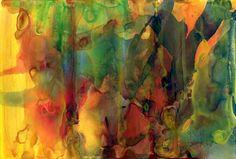 9.4.88 » Gerhard Richter - watercolor on paper -16 cm x 24 cm