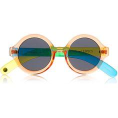 Le Specs + CRAIG & KARL Roundabout round-frame acetate sunglasses ($90) via Polyvore