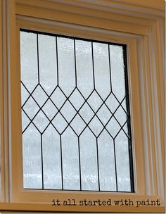 faux-leaded-glass-window-how-to; It all started with paint blog