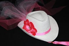 Cowgirl Hat  Girls Flower Girl Cowboy Hat  by PureReflections, $27.00