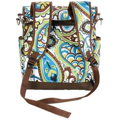 Canvas Two In One Backpack Diaper Bag - Felicity by Timi And Leslie |... ($80) via Polyvore