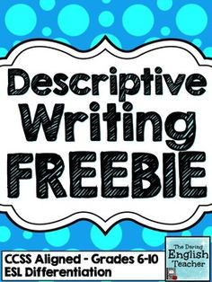 This descriptive writing FREEBIE is a sample of my Descriptive Writing Mini-Unit. There are two descriptive writing activities included in this download.