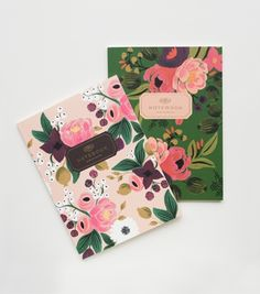 Vintage Blossom Notebook Set: Great Gift