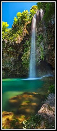 FRANCE ♦ Cascade la source ♦   Aveyron          #by Lyp .#waterfall nature landscape amazing water rock
