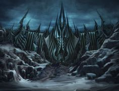 The Grim Up North trope as used in popular culture. Whenever The Dark Lord rises to gather his armies and bring destruction upon the lands of men, elves, … Fantasy City, Fantasy Places, Dark Fantasy, Warcraft Art, World Of Warcraft, Devaint Art, Lich King, Death Knight, Tv Tropes