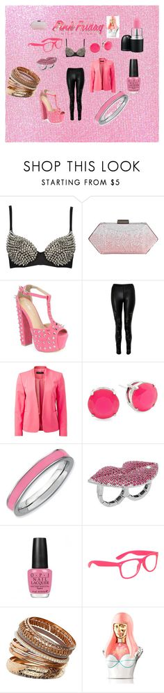 """Totally Fearless with Pink Friday Nicki Minaj"" by tasha-98 ❤ liked on Polyvore featuring Oscar de la Renta, Coco's Fortune, Forever New, Expressions, Betsey Johnson, MAC Cosmetics, OPI, Dorothy Perkins, Nicki Minaj and pink friday nicki minaj fragrance"