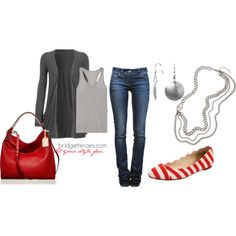 Seeing Red, created by bridgetteraes on Polyvore